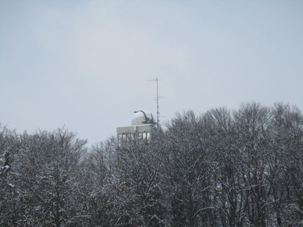 Sternwarte Klagenfurt im Winter