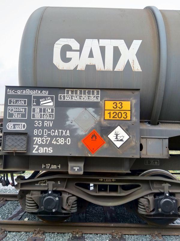 GATX-Waggon – feuergefährlich, zerstört die Umwelt