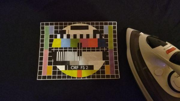 Testbild ORF FS 2 und Bügeleisen